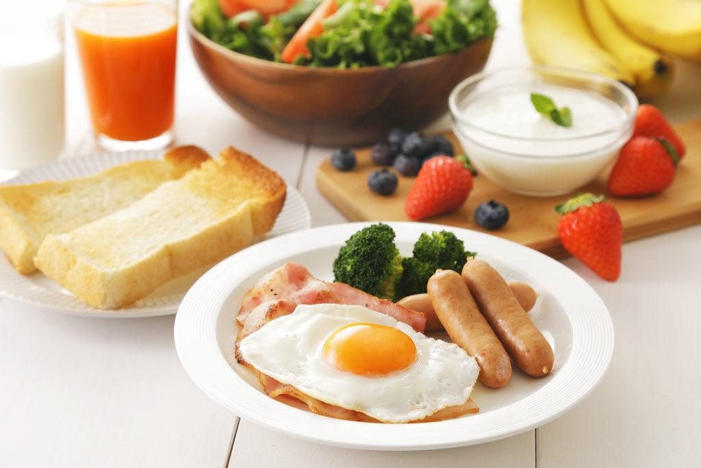 朝食に野菜をプラス